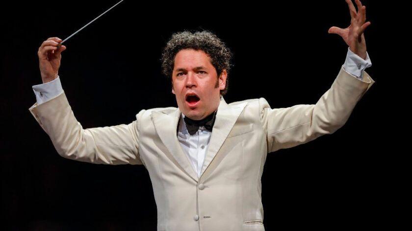 Los Angeles Philharmonic artistic director Gustavo Dudamel