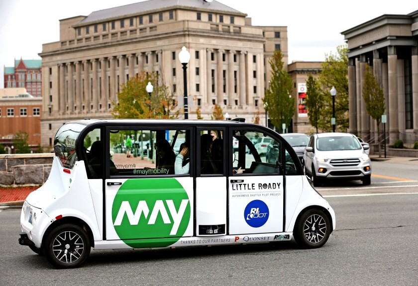 Self-driving buses come to Providence