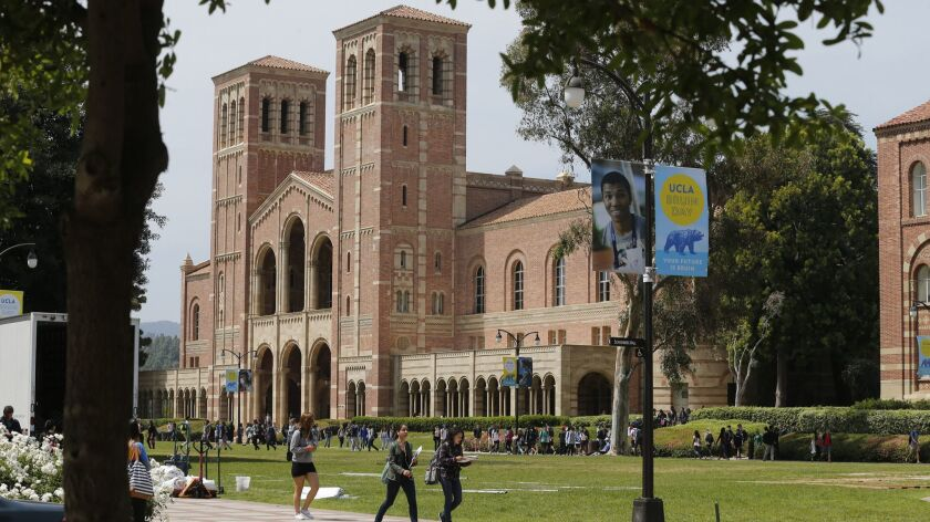 WESTWOOD, CA -- WEDNESDAY, APRIL 13, 2016: A view of Royce Hall at UCLA in Westwood, CA, on April 13