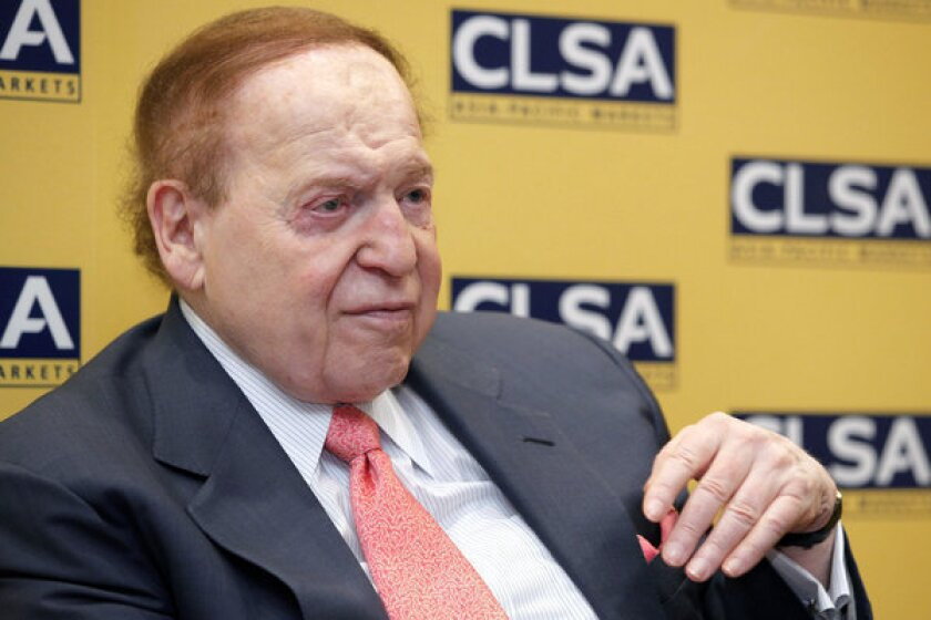 Sheldon Adelson, chairman and chief executive of Las Vegas Sands Corp.