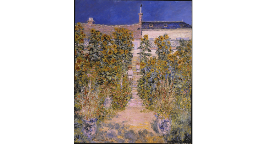 "Claude Monet's 1881 ""The Artist's Garden at Vethéuil"" is among the donated French Impressionist works that will bolster LACMA's holdings in that area."