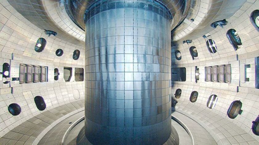 Fusion chamber at the DIII-D National Fusion Facility, operated by General Atomics.