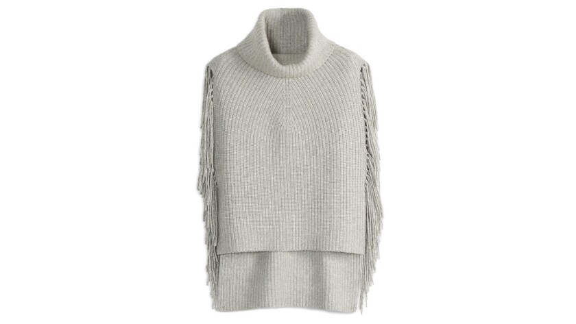 Included in the fall collection by Kit and Ace was the Fringe Benefits Poncho.