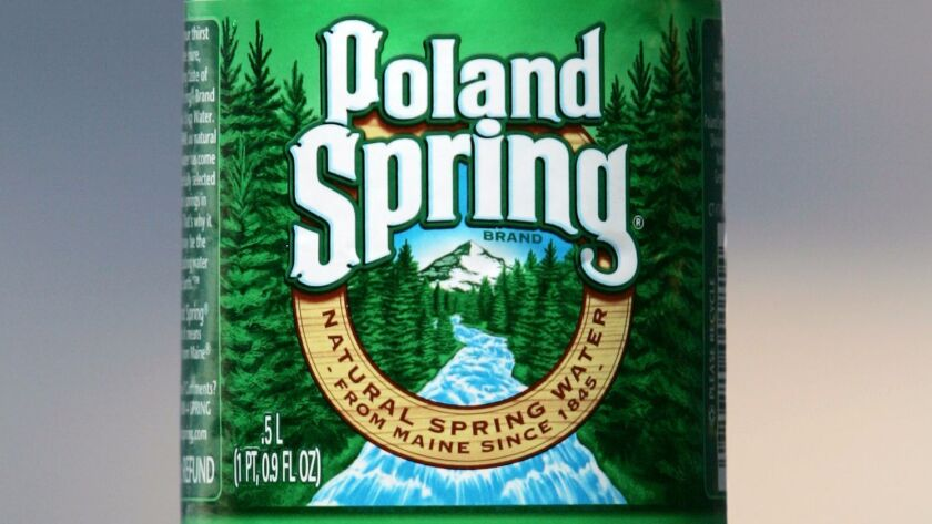 """""""Poland Spring is 100% spring water,"""" a Nestle spokeswoman said in an email."""