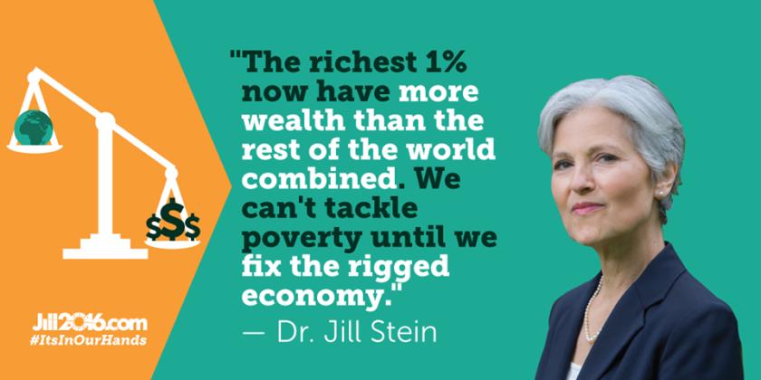"""""""Si Bernie Sanders repudia al Partido Demócrata que le ha traicionado, yo le daría la bienvenida al Partido Verde para continuar la revolución"""", señaló en su cuenta de Twitter Jill Stein, una ferviente ambientalista, favorable a acabar con los privilegios de Wall Street y a legalizar el consumo de marihuana."""
