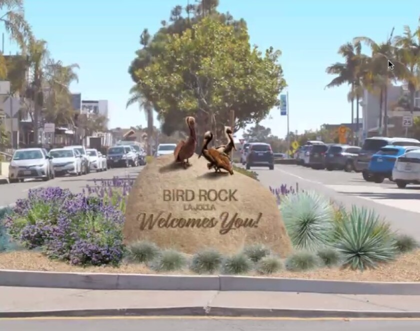 This is one of the conceptual designs for Bird Rock monument signage on La Jolla Boulevard.
