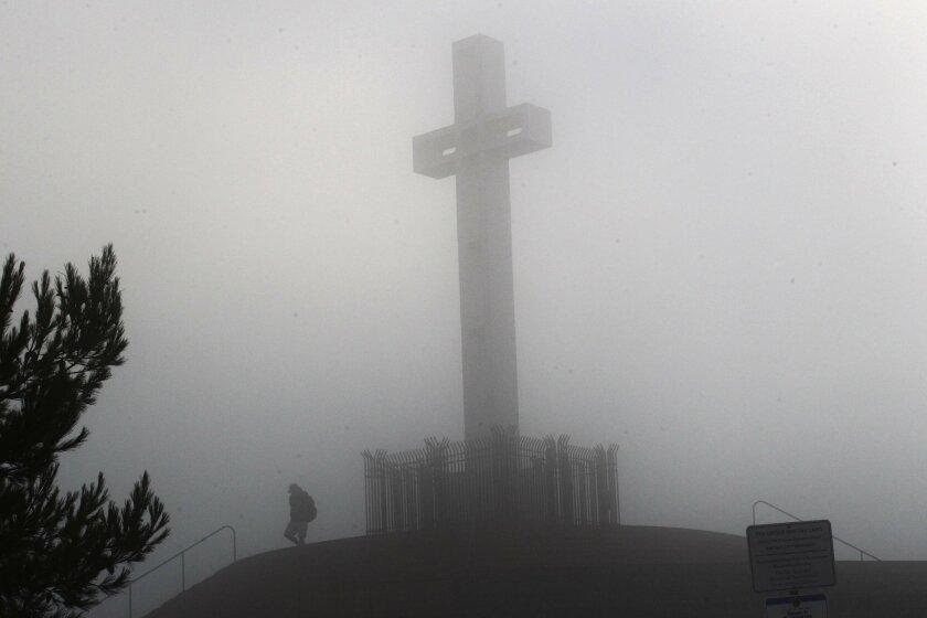 The cross on Mt. Soledad. U-T file photo.