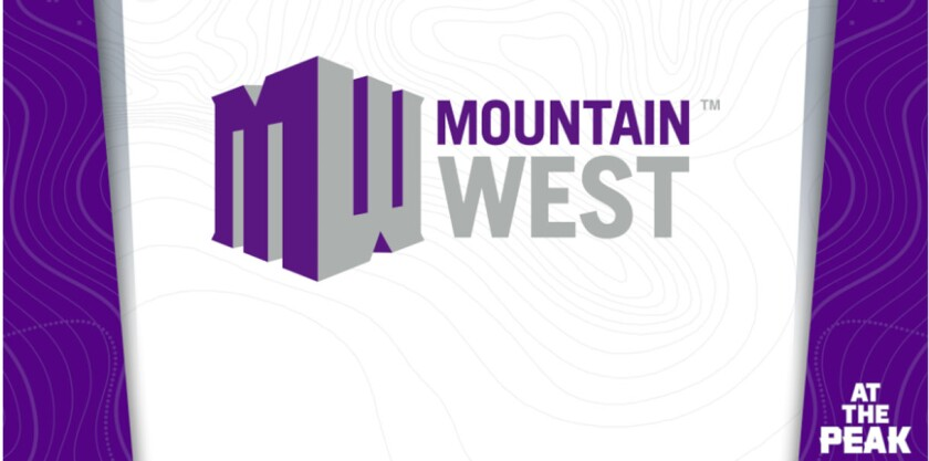 The Mountain West logo and slogan.