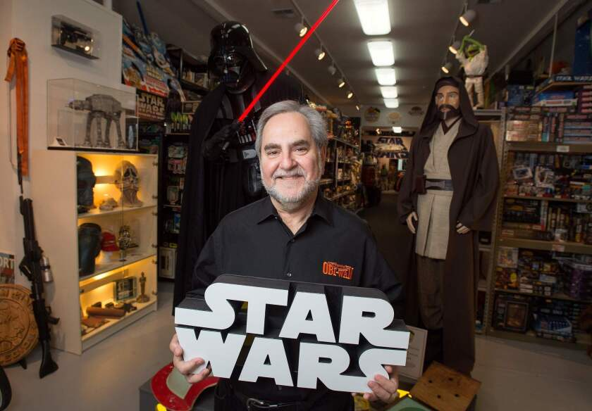 """Rancho Obi-Wan's Steve Sansweet is asking fans to help restore stolen items to the largest """"Star Wars"""" collection in the world."""