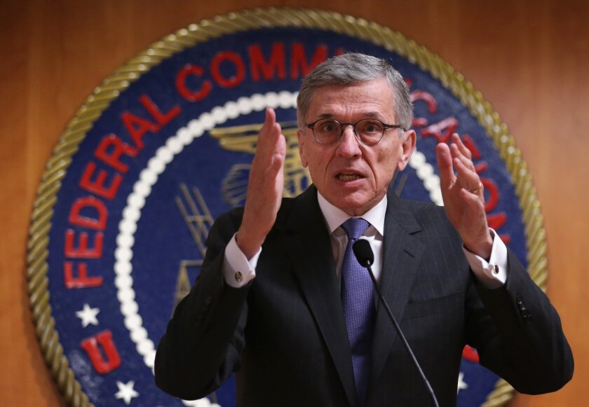Federal Communications Commission Chairman Tom Wheeler, shown in 2014, said he hasn't decided on a departure date.