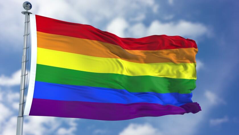 Rainbow Waving Flag