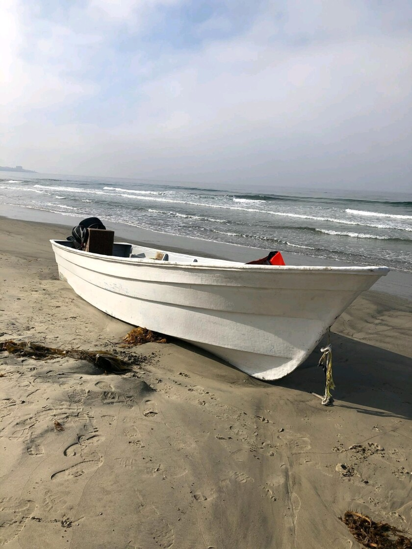 Six people were arrested early Wednesday morning after a suspected smuggling boat was beached on San Diego's Black's Beach. The migrants tried to escape by climbing the cliffs near Torrey Pines, according to San Diego lifeguards and Border Patrol.