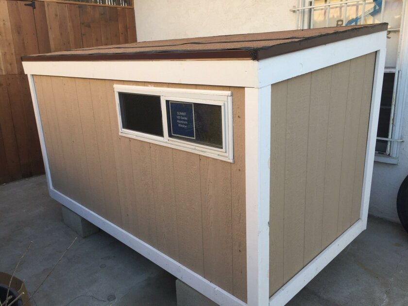 San Diego nonprofit Jus Sayin Inc. built a 4-by-7-foot house for a homeless man, but the structure was seized by police who also arrested the man and charged him with encroachment on public property.