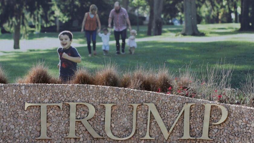 Trump International Golf Course advertisement