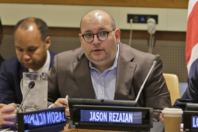 Washington Post journalist Jason Rezaian participates in a September discussion on media freedom at United Nations headquarters. He was held for 544 days by Iran on espionage charges.