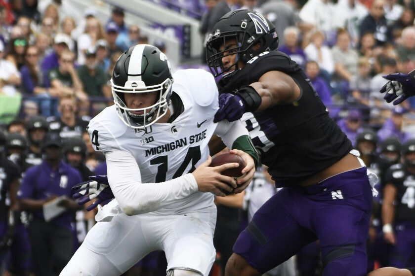 Michigan State Northwestern Football