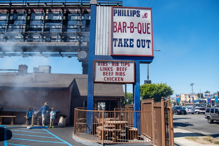 Phillips Bar-B-Que in Los Angeles