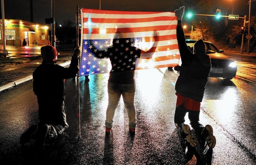 A protest last year in Ferguson, Mo.