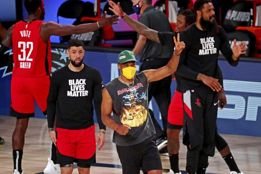 James Harden And Rockets Go With The Flow In Nba Playoffs Los Angeles Times