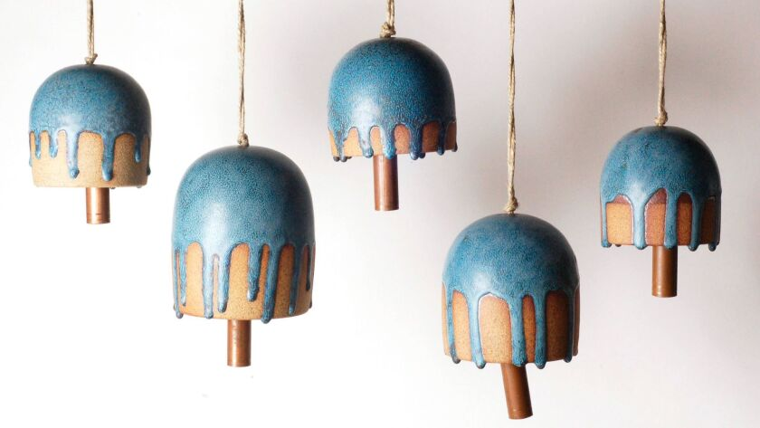 Hand-crafted ceramic bells.