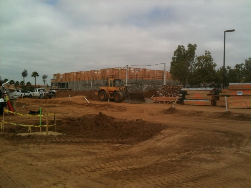 Latitude 33 under construction at Centre City Parkway and Washington Avenue in Escondido. Units are expected to be ready by early 2012.