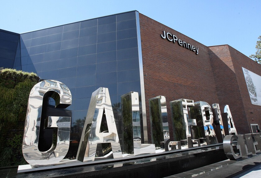The front signage of the Glendale Galleria, which celebrates its 40th anniversary next week.