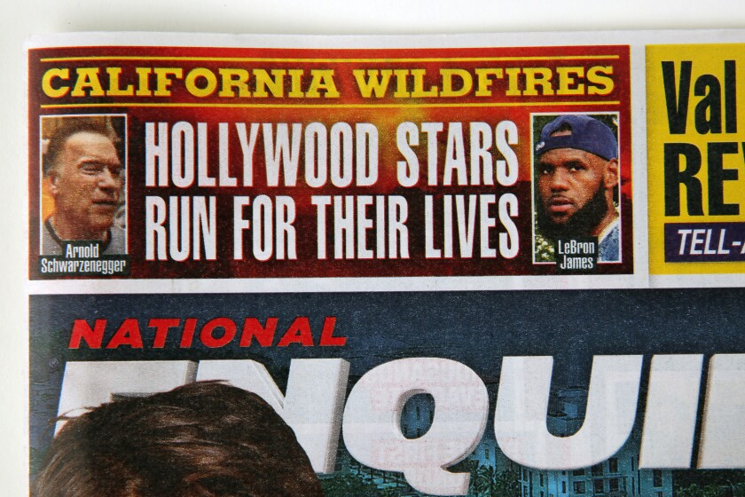 A detail from a National Enquirer cover.