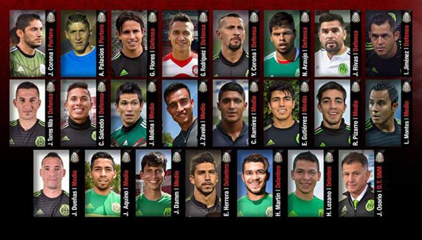 Los elegidos de México para enfrentar a Senegal el 10 de febrero en Miami.