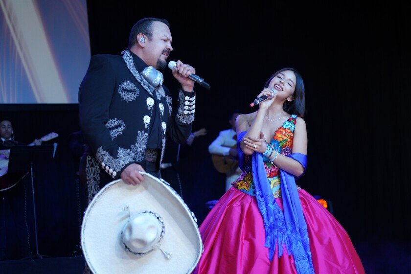 Pepe Aguilar And Family Hold Surprise Presentation And Press Conference