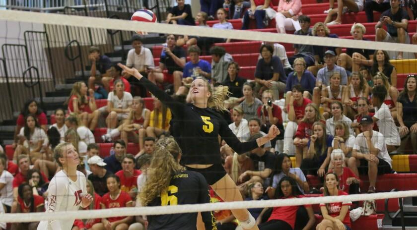Senior Megan Kraft had a big night for Torrey Pines.