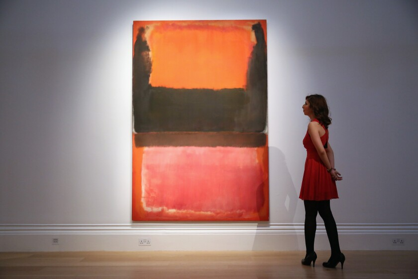 "A painting by Mark Rothko titled ""No. 21 (Red, Brown, Black and Orange)"" sold at a Sotheby's auction in New York for $45 million."