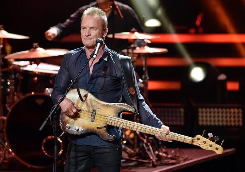 El músico británico Sting durante una presentación. EFE/Archivo