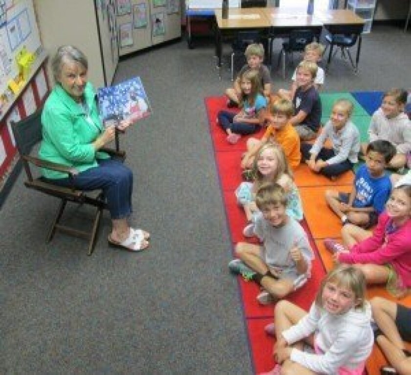 Jane Meyers' book, 'Halloween Stew,' got rave reviews from first-grade students at Sage Canyon School.