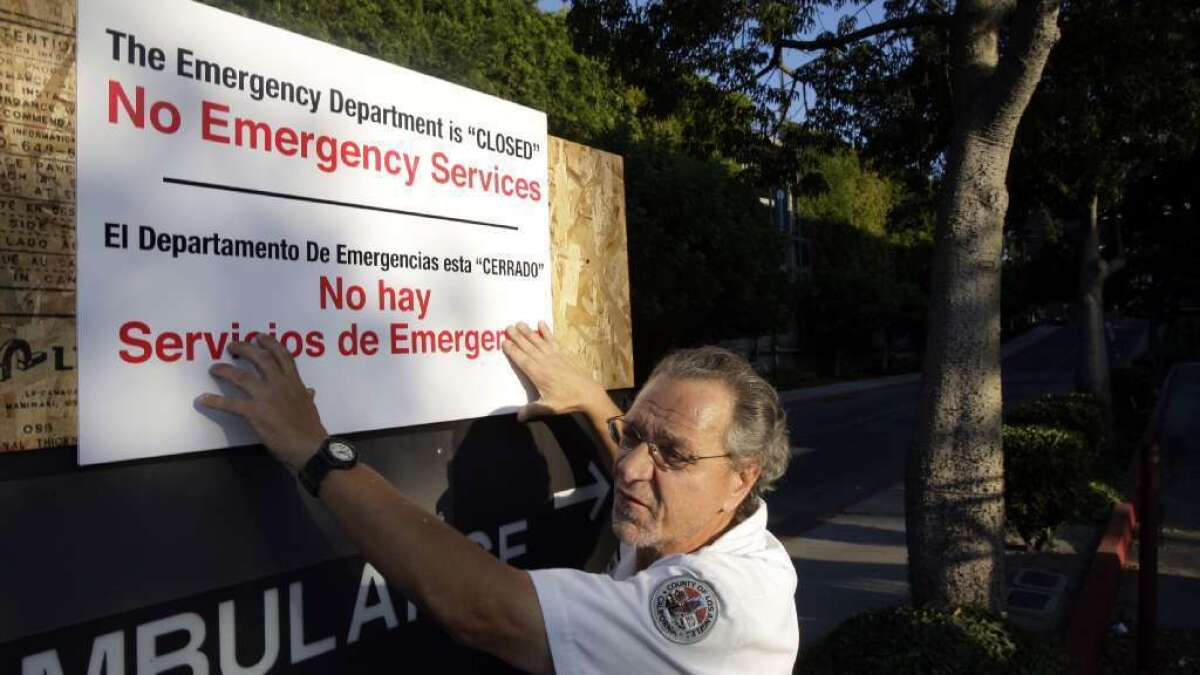 Study: Emergency room closures can be deadly for area's residents - Los Angeles Times