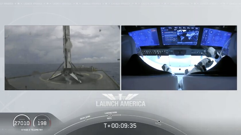 New era of spaceflight dawns, as SpaceX sends NASA astronauts in