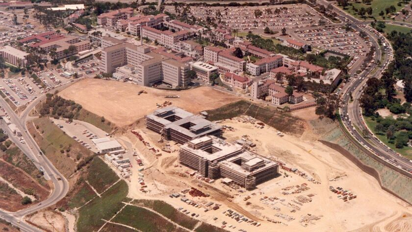 July 20, 1982 -- Construction of San Diego Navy Medical Center in Balboa Park.