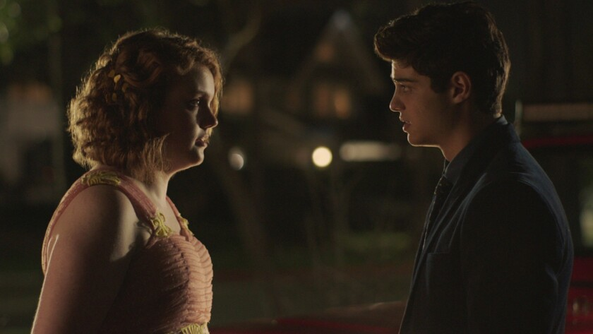 "(L-R) - Shannon Purser and Noah Centineo in a scene from ""SIERRA BURGESS IS A LOSER."" Credit: NETFLI"