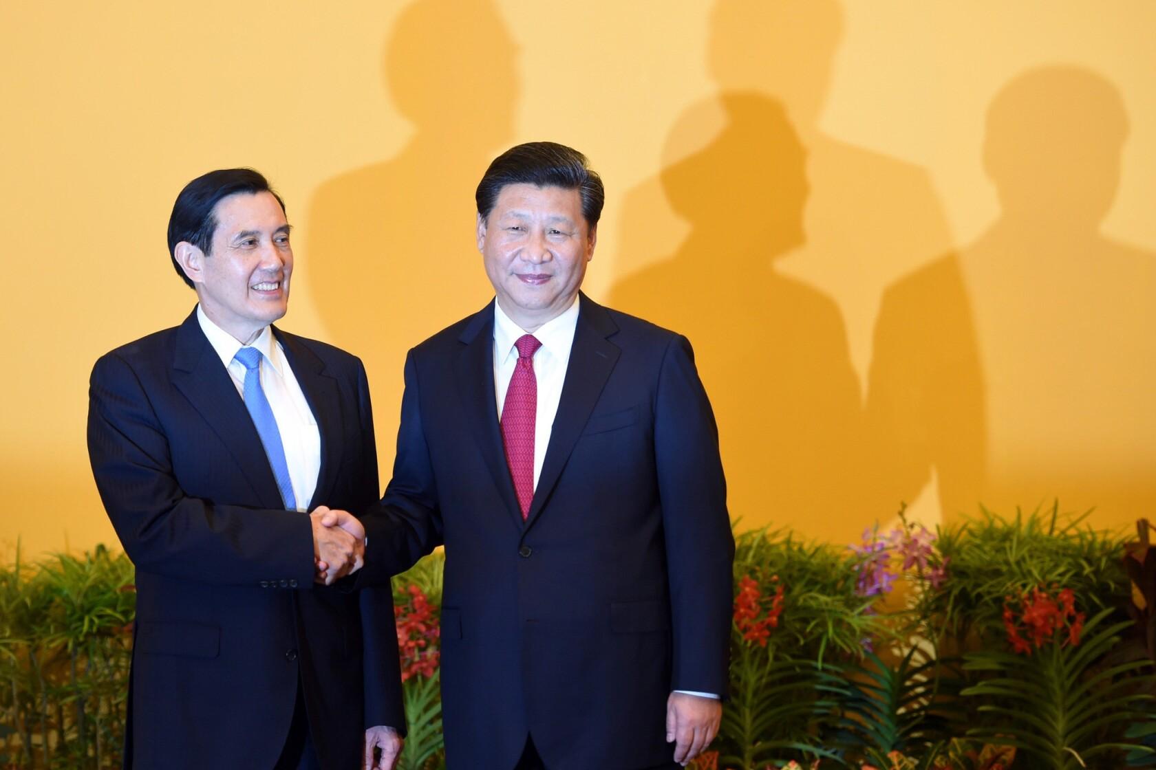Historic handshake marks meeting of China and Taiwan presidents