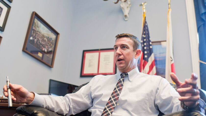 Congressman Duncan D. Hunter, R-Alpine, who is facing 60 criminal counts related to alleged misuse of campaign funds, filed notice Friday that he will appeal a judge's ruling denying his motion to dismiss charges against him.