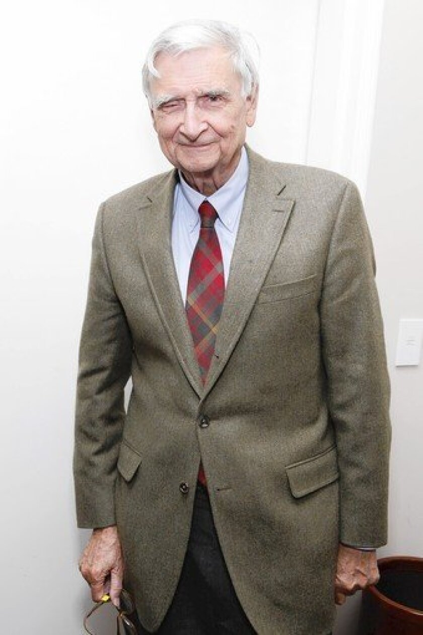 Edward O. Wilson is seen arriving at the World Science Festival in New York City on June 2.