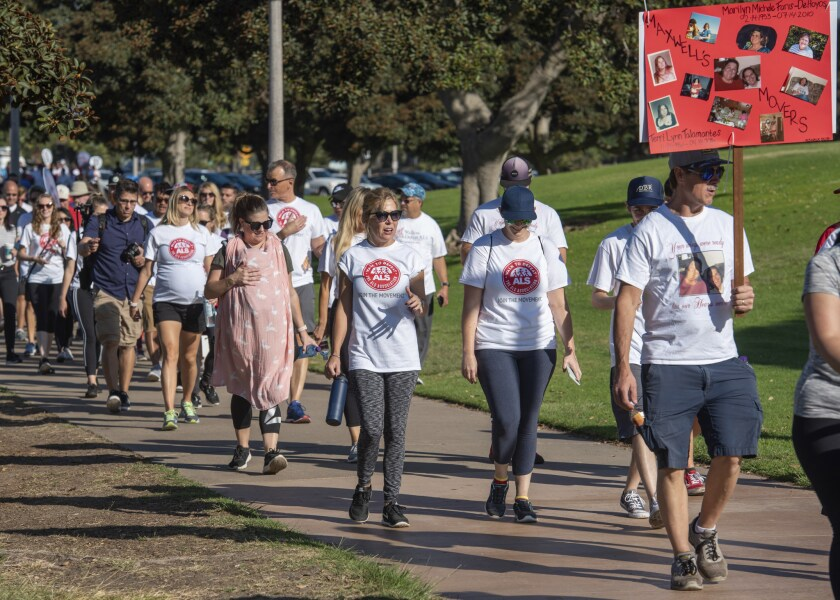 San Diego residents participate in the 2019 Walk to Defeat ALS