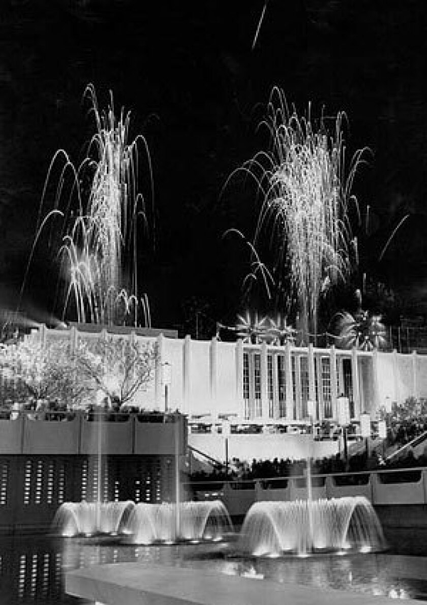 1965: Fireworks helped to celebrate the opening of LACMA.