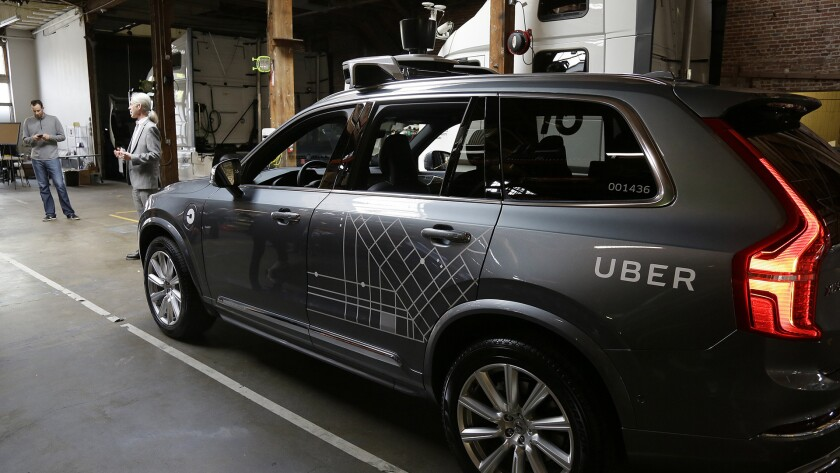 A self-driving Uber SUV struck and killed a pedestrian in suburban Phoenix in the first death involving a fully autonomous test vehicle — a crash that could have far-reaching consequences for the new technology as Uber suspended all of its self-driving testing after the incident. STORY