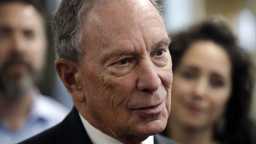 Former New York Mayor Michael R. Bloomberg announced he will not run for president in 2020.