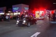 Jaywalking pedestrian hit by car and seriously injured