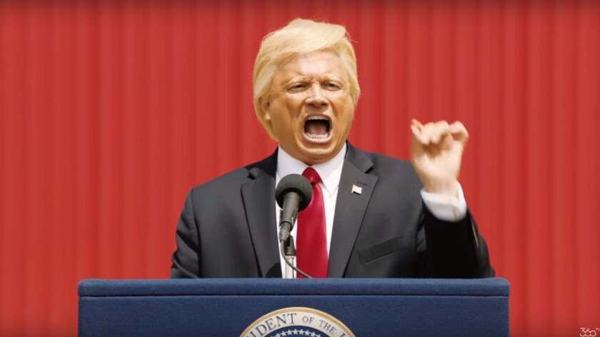 Trump is played in the commercial by John Di Domenico, whose business has been booming this year.