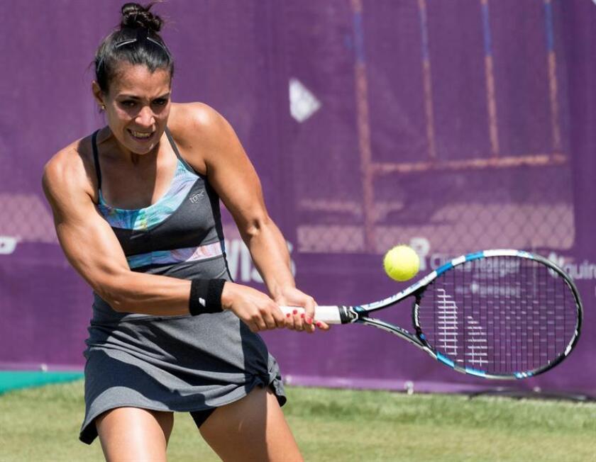 La tenista paraguaya, Verónica Cepede Royg, durante un partido. EFE/Archivo