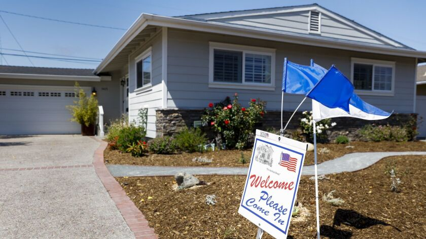 TORRANCE, CA--MAY 08, 2016-- An open house in the Hollywood Riviera neighborhood of Torrance, CA, wh