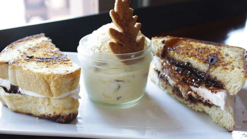 Grilled s'mores sandwich at Barleymash in San Diego