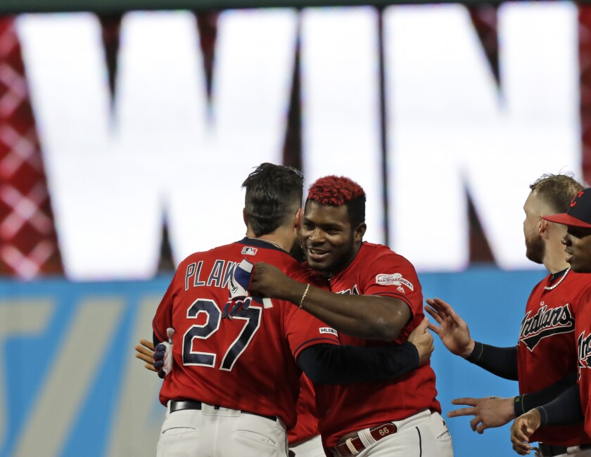 newest fd779 404e6 Puig's single in 10th lifts Indians over Tigers 2-1 - The ...